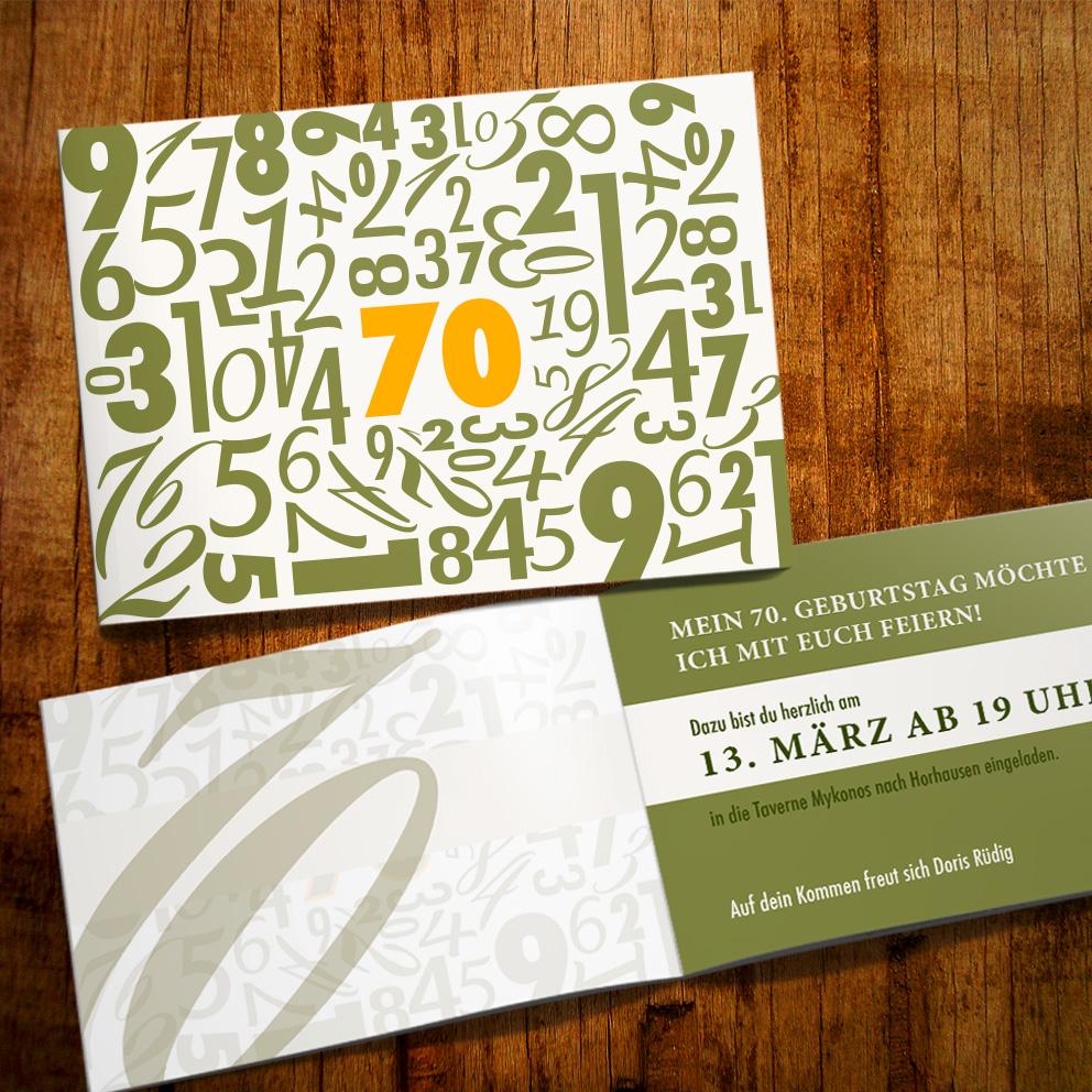 Einladung Zum 70. Geburtstag U2013 Modern